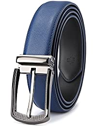 Men's Belt,Bulliant Leather Belt for Men with Pin Buckle 1 3/8,Trim to Fit