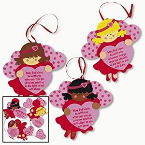 Inspirational valentine angel ornament craft for Inspirational valentine crafts