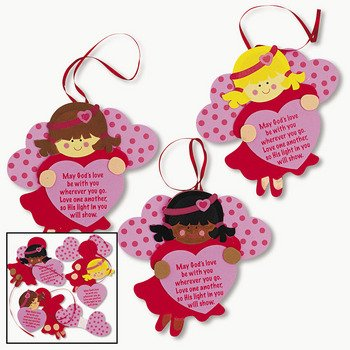 Inspirational Valentine Angel Ornament Craft Kit   Sunday School U0026 Crafts  For Kids