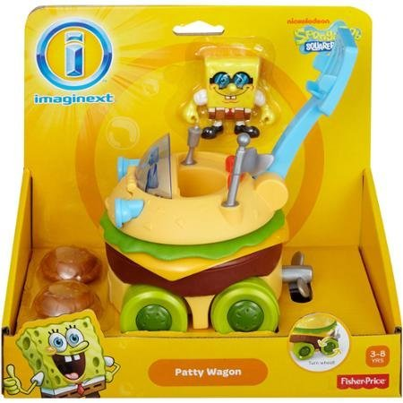 Fisher-Price Imaginext SpongeBob SquarePants Krabby Patty Wagon for Age 3 Years and Up