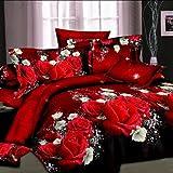 Eastern King Bed Vs California King 3D Rose Flower King Size Bedding Pillowcase Quilt Duvet Cover Set