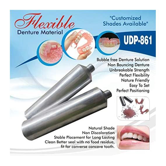 DR. STEVE FLEXIBLE DENTURE MATERIAL DENTAL LAB MATERIALS DENTURE FLEXIBLE ACRYLIC LIGHT FLEXIBLE DENTURE MATERIAL XL SIZE (12+2) 14 Pices DEAL OF THE DAY