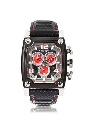 9265848659f2 AK611BK Reloj de Acero Negro   Rojo inoxidable Akribos XXIV Hombres