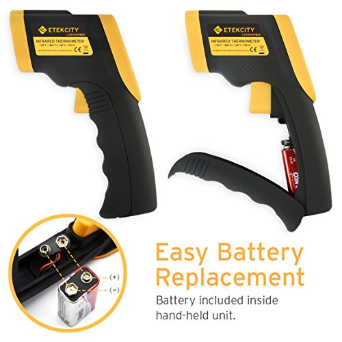Etekcity Lasergrip 800 Digital Infrared Thermometer Laser Temperature Gun Non-contact -58℉ - 1382℉ (-50℃ to 750℃) , Instant Read Thermometer for Meat Refrigerator Pool Oven