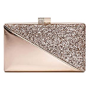 CARIEDO Women's Sparkling Clutch Purse Elegant Glitter Evening Bags Bling Evening Handbag for Dance Wedding Party Prom Bride