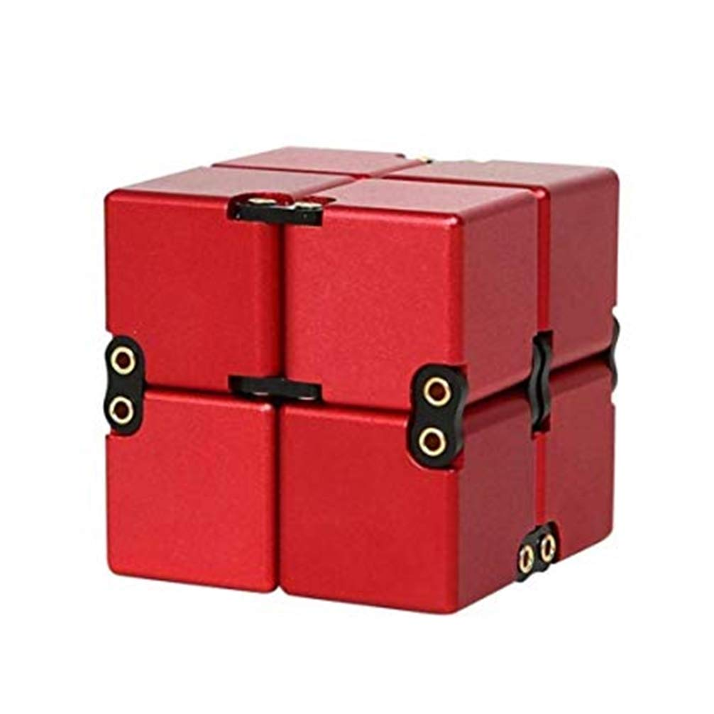 TAOUN Infinite Cube Aluminum Alloy Stress Relief Toys Stress Anxiety Relieve Hand Fidget Stress Toy Killing time Toys Rotated Pocket by TAOUN