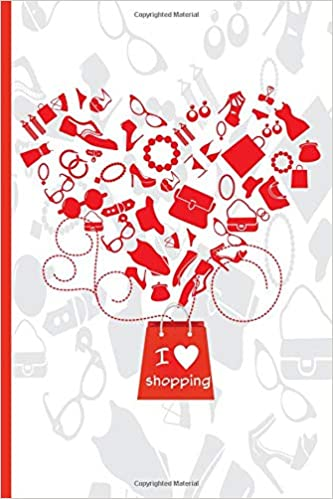 amazon com i love shopping tracking notebook for your ecommerce