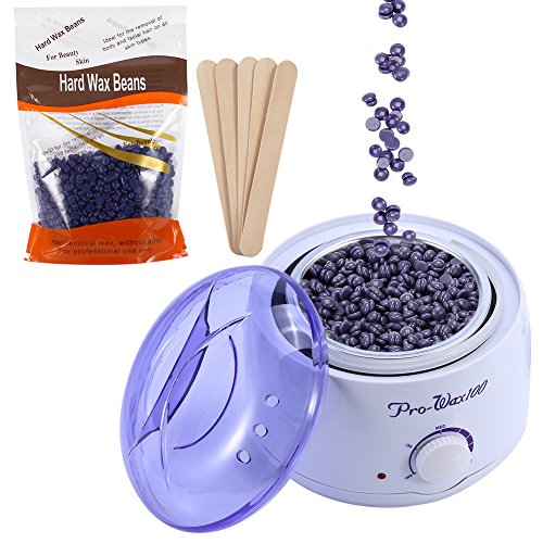 500ml Adjustable Temperature Wax Heater + Lavender Hard Wax Beans Hair Removal Tool Kits Used for Facial Armpits Hands Legs Bikini Line Depilatory (Lavender) For Sale