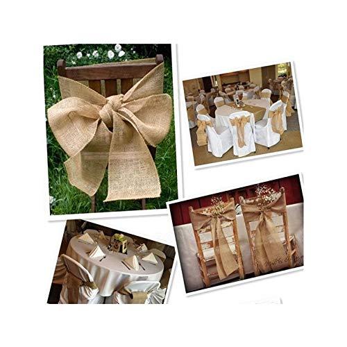 Fablcrew Rouleau Ruban en Toile de Jute pour D/écoration de F/ête de Mariage Bricolage Artisanat Vintage 10m*10 cm