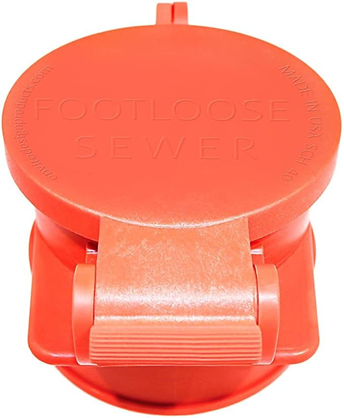 ORANGE MALE FOOTLOOSE RV Sewer Cap
