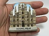 Duomo, MILAN ITALY SOUVENIR RESIN 3D FRIDGE MAGNET