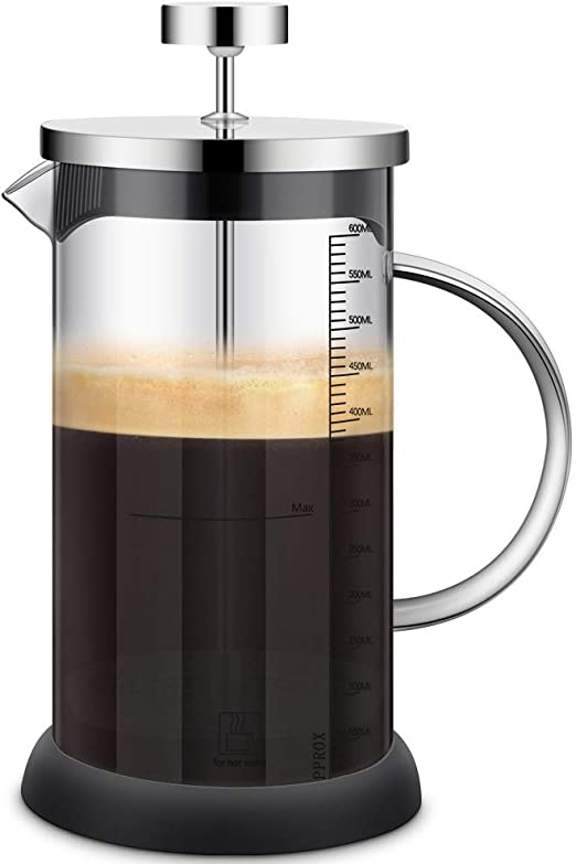 Cafetera Francesa - French Press, 600ML Prensa Francesa con Triple ...