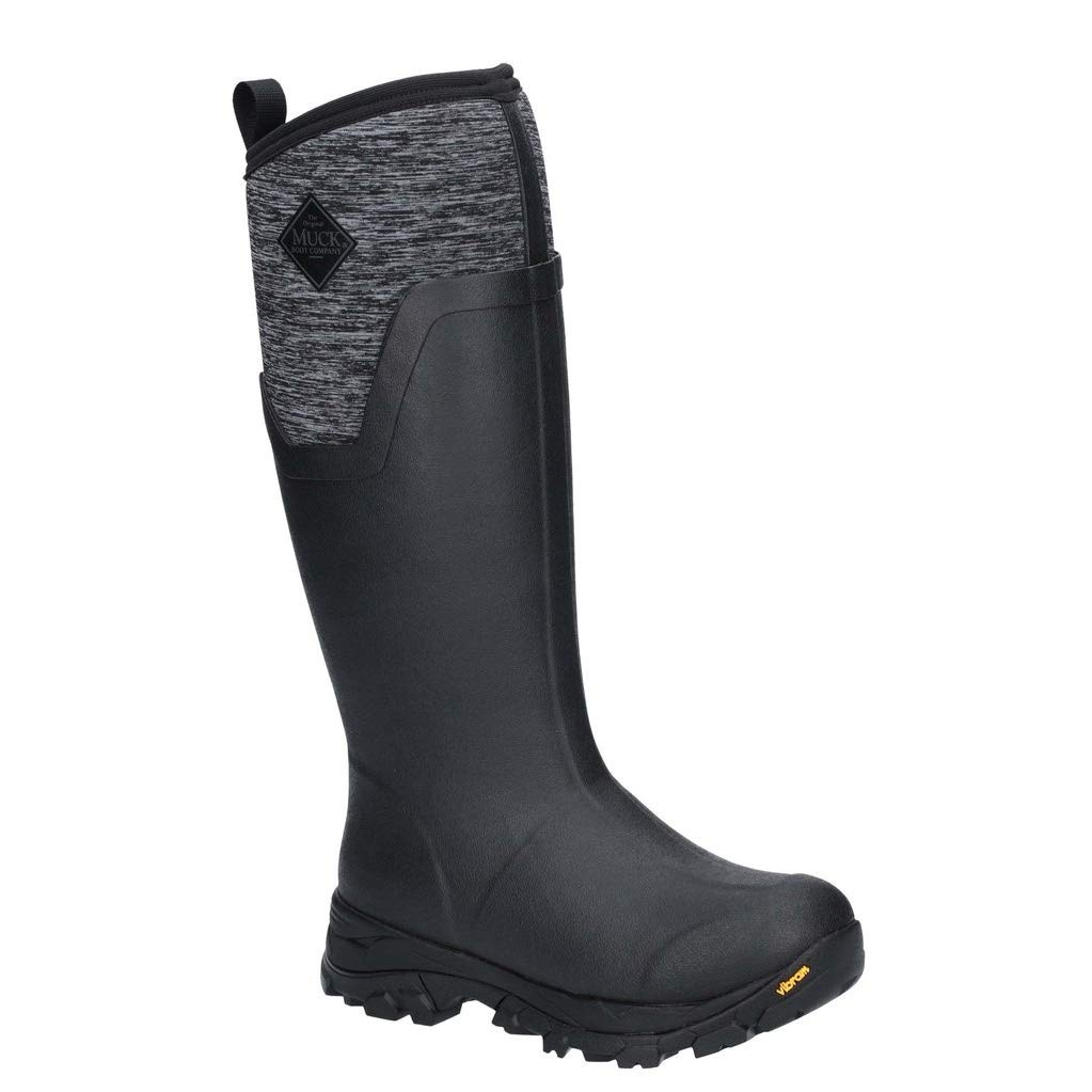 Muck Boot Womens/Ladies Arctic Ice Tall Extreme Condition Rain Boots (6 US) (Black/Heather) by Muck Boot