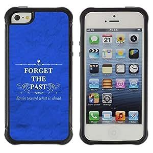 Suave TPU GEL Carcasa Funda Silicona Blando Estuche Caso de protección (para) Apple Iphone 5 / 5S / CECELL Phone case / / BIBLE Forget The Past /