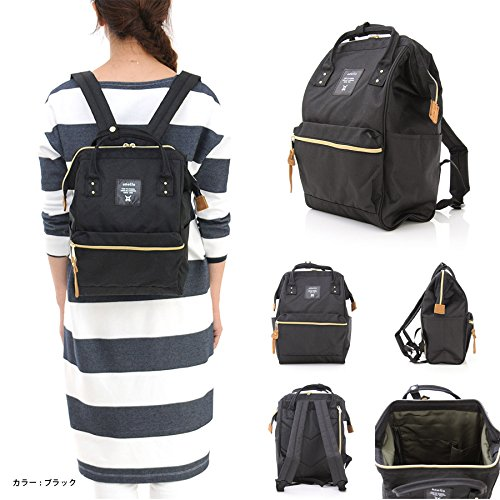 2c23b8531a0 Galleon - Japan Anello Backpack Unisex MINI SMALL BLACK Rucksack Waterproof  Canvas Campus Bag