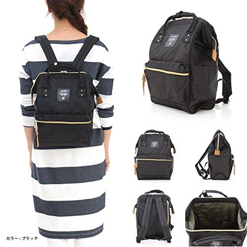 Japan Anello Backpack Unisex MINI SMALL BLACK Rucksack Waterproof Canvas Campus Bag