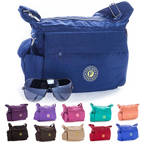 Body Big Unisex Shop Fabric Handbag Shoulder Lightweight Cross Messenger Medium Coral WxP7O8xBZr