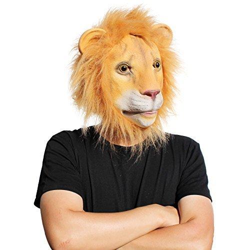 PartyCostume Latex Hunam face Mask (Lion) (Lion Mask)