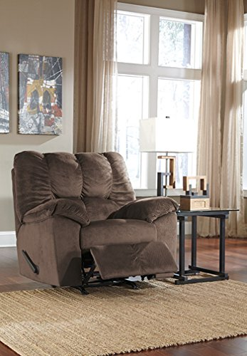 Signature Rocker Recliner (Ashley Furniture Signature Design - Julson Rocker Recliner - Pull Tab Manual Reclining - Contemporary - Cafe)