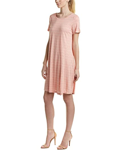 d3ad2a48e0ef Two by Vince Camuto Womens Short Sleeves Knee-Length T-Shirt Dress Pink XS