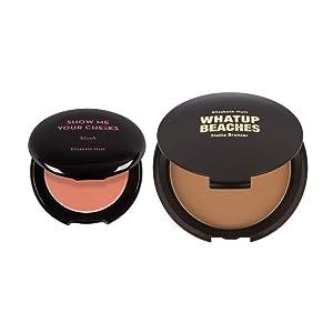 Elizabeth Mott Bundle: Show Me Your Cheeks Powder Blush (Soft Pink) AND Whatup Beaches Bronzer (Matte)
