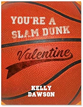 Amazon Com Personalized Basketball Valentines Set Of 24 4 1 4 X 5 1 2 Kid S Valentine Cards Kids Valentine Cards Boys Sports Classroom Valentines Personalized With Your Kid S Name Office Products