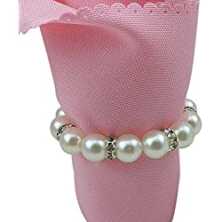 Tangpan Imitation Pearl Napkin Rings With Elastic For Wedding And Hotel With Diamond Soft Decoration For Napkin Rings (20)