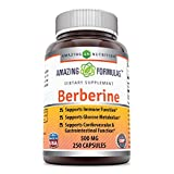 Amazing Formulas Berberine Plus 500 mg Capsules - Supports Immune System - Supports Glucose Metabolism - Aid in Healthy Weight Management (250 Count)