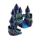 Aquarium Decoration Fish Tank Resin Ornament River Artificial Castle Beautiful set33