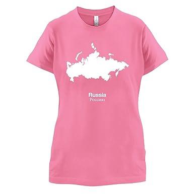 Russia / Russland Silhouette - Damen T-Shirt - Azalee - S
