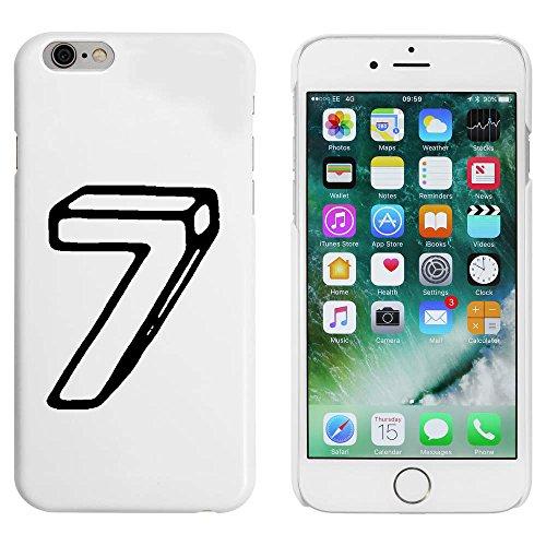 Blanc 'Numéro 7' étui / housse pour iPhone 6 & 6s (MC00089437)