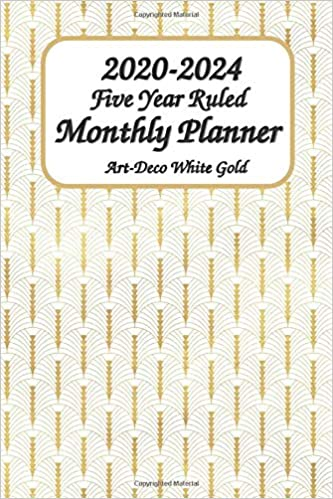 Amazon.com: 2020-2024 Five Year Ruled Monthly Planner Art ...