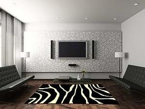 Alfombra Prime Pile Con Cebra Altura 7 Mm Color Blanco