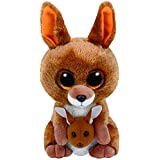 TY Beanie Boos KIPPER - brown kangaroo reg Plush