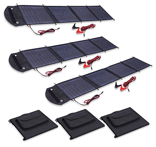 Visua VSSP 500W High Power Fold Up Portable Solar Panel Battery Charger Kits For Caravans, Motorhomes 150W Kit by Visua
