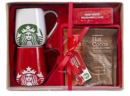 Starbucks Coffee Mug Gift Set Large Mug Duo Set With Cocoa And Marshmallows