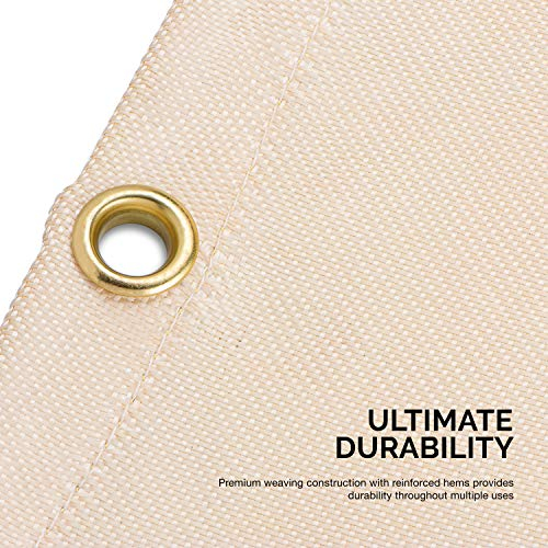 Neiko 10909A Fiberglass Welding Blanket and Cover, 6' x 8'   Brass Grommets for Easy Hanging and Protection by Neiko (Image #2)