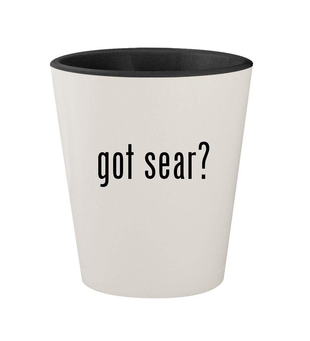 got sear? - Ceramic White Outer & Black Inner 1.5oz Shot Glass
