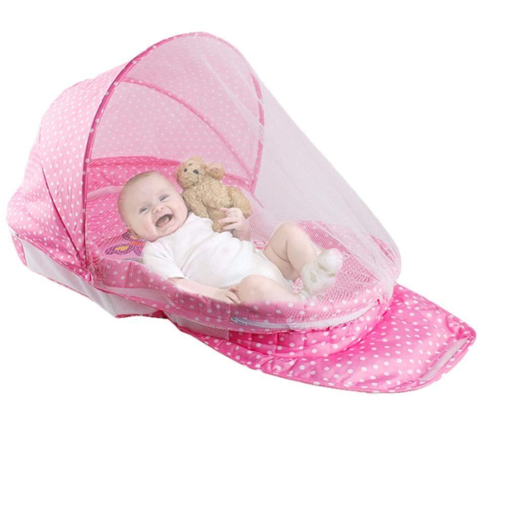 Travel Crib Baby Tent Baby Bed Portable Baby Travel Bed with Mosquito Net with Pad