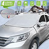 Car Windshield Snow Ice Cover Magnetic Winter Frost Protector Cover with 2 Mirror Covers, Windshield Guard Water-proof, Wind-proof