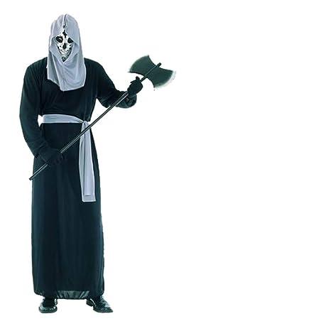 ZGCO Disfraz de Halloween parodia túnica negra disfraz de fantasma ...