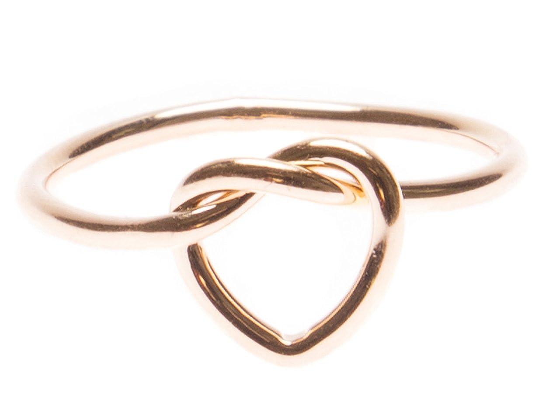 Happiness Boutique Anello Nodo Cuore in Oro Rosa | Anello Minimal Nodo Incrocio Senza Nickel 4260443177196