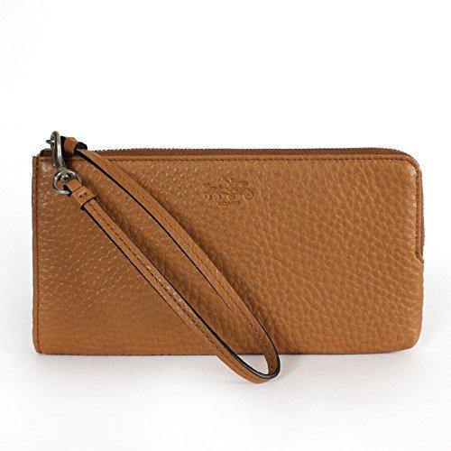 Coach Bleecker Leather L-Zippy Wallet 51981 Brindle