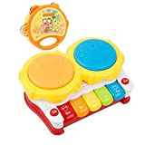 Blancho Bedding Musical Electric Baby Toys Hand Drum Tapping Instrument Percussion Set for Children, Piano@Rattles