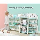 Toytexx High quality Kids baby Storage Organizer Bookshelf Corner shelf Bookcase Set-Blue Color