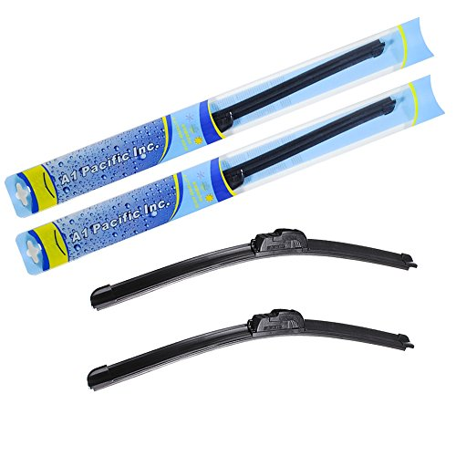 A1 Pacific All Season Bracketless J Hook Windshield Wiper Blades 20  20   Set Of 2 Wipers