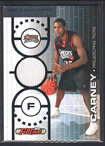 07 Topps Full Court (RODNEY CARNEY 2006/07 TOPPS FULL COURT RC ROOKIE 76ERS RELIC JERSEY SP #/499 $15)