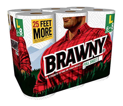 Brawny Paper Towels Full Sheet 6 Large Rolls Import It All