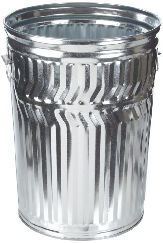 Witt Industries WCD32C Galvanized Steel 32-Gallon Light Duty Trash Can, Round, 21-1/4