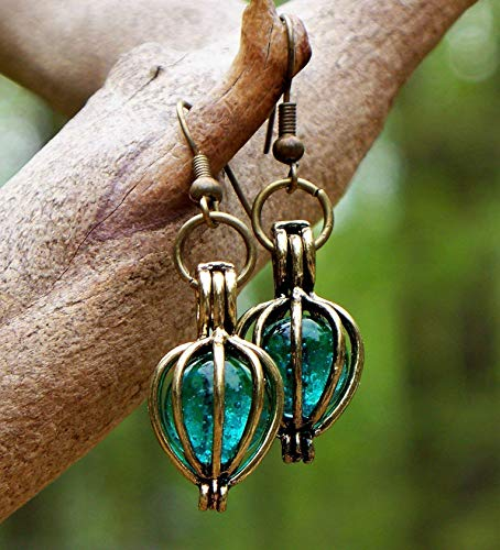 - Recycled Vintage Mason Jar Brass Drop Earrings